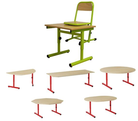 Tables pour salle de classe cr che et maternelle for Bureau 160x60