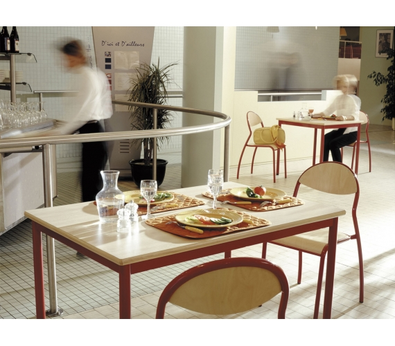 Mobilier restaurants scolaires cantines caf t ria self for Materiel cantine collective