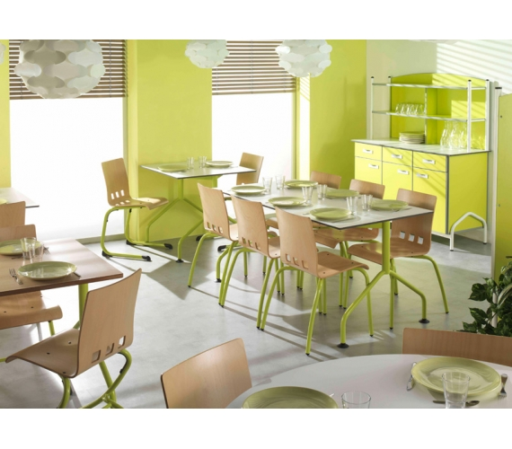 Mobilier restaurants scolaires cantines caf t ria self for Mobilier cuisine restaurant